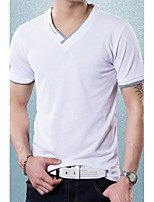 Men's Embellished V Neck Fashion Cotton T-shirt
