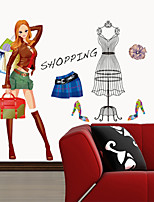 Wall Stickers Wall Decals, Beauty Shopping Clothes PVC Wall Stickers