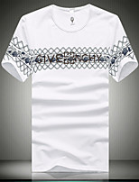 Men's Casual Short Sleeved T-Shirt Printing English