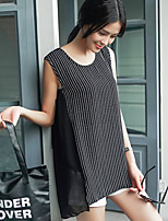 Women's Casual/Party/Work Micro-elastic Sleeveless Long Blouse (Polyester)
