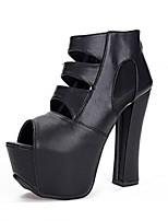 Women's Shoes Platform Peep Toe/Platform Sandals Casual Black