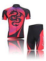 XINTOWN Red Dragon Unisex Short Sleeve Summer Cycling Suits/Breathable/Quick Dry/Anatomic Design/Back Pocket