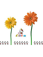 Wall Stickers Wall Decals Style Snoopy Dog Kitty Hello Cat Chrysanthemum PVC Wall Stickers