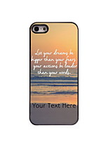 Personalized Gift Dream and Fear Design Aluminum Hard Case for iPhone 5/5S
