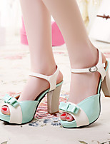 Women's Shoes Patent Leather Stiletto Heel Heels/Peep Toe Sandals/Pumps/Heels Office & Career/Casual Blue/Green/Pink/Red
