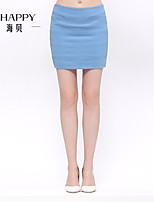 Women's CLOTHING STYLE Elasticity THICKNESS Dress Length Skirts (Fabric)