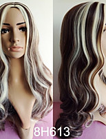 60cm Fashion Stylish Women Sexy Synthetic Hair Long Mixed Color Wavy Wig