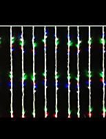 16w 2x2 meter 400pcs bollen geleid waterval licht met AC110-220V ingang PVC transparante, rgb kleur