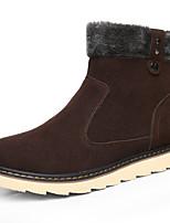 Для мужчин Ботинки Удобная обувь Зима Флис Повседневные Черный Желтый Коричневый На плоской подошве
