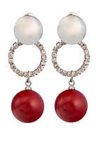 Boucle - en Alliage/Zircon/Imitation de perle - Mignon/Tous les jours - Boucles d'oreille goujon