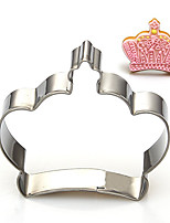 Cartoon King's / Queen's Crown Shape Cookie Cutters  Fruit Cut Molds Stainless Steel