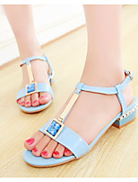 Women's  Chunky Heel Mary Sandals Outdoor/Casual Blue/Pink/White