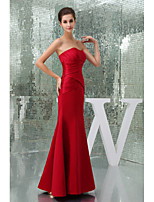 Formal Evening Dress A-line Sweetheart Floor-length/Court Train Satin Women Long Prom Dresses