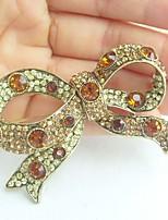 Women Accessories Gold-tone Topaz Rhinestone Crystal Bowknot Brooch Art Deco Crystal Brooch Bouquet Women Jewelry
