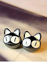 Fashion Lovely Big Eyes Small Cats Earrings