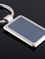 Stainless Steel Rectangle Shaped Key Chain Ring Keyring