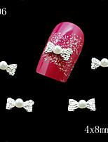 006 10pcs/lot 3D Clear Alloy Rhinestone Bow Tie Nail Slices Alloy Decoration Beautiful Nail Art Rhinestone
