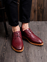 Men's Shoes Casual  Oxfords Black/Yellow/Burgundy