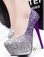 Women's Shoes Glitter Stiletto Heel Heels Pumps/Heels Party & Evening/Dress/Casual Blue/Purple/Red