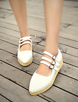 Women's Shoes  Flat Heel Pointed Toe Pumps/Heels Office & Career/Casual Black/Blue/Pink/White