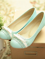 Girls' Shoes Casual Round Toe  Pumps/Heels Blue/Yellow/Pink/Beige