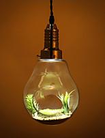 North American Country Edison Bulbs Art Chandelier