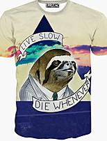 Katoen-Print-Heren-T-shirt-Informeel-Korte mouw