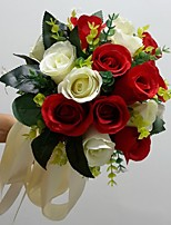 Ramos ( Rojo/Blanco , Satén ) - Rosas