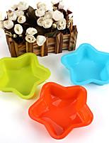 10pcs estrellas molde en forma de moldes de cocción de la torta de la jalea moldes (color al azar)