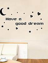 adesivos de parede estilo decalques de parede tem um sonho bom Inglês palavras pvc adesivos de parede