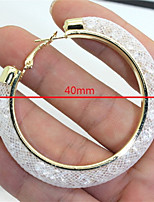 Vilam® Round Mesh Stardust With Shining Stone Filled Colorful Hoop Earrings Small 1 Pair