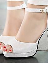 Women's Shoes Stiletto Heel Open Toe Sandals Dress Blue/Pink/White/Silver/Gold