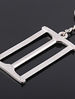 Stainless Steel Simulation Tools Dual Saws DIY Hand Tools Shaped Key Chain Ring Keyring