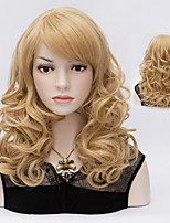Charming Color Blonde Natural Wave Lady Wigs Hair Beautiful Synthetic Hair Wigs