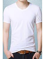 Men's V Neck Soft Cotton T-shirt