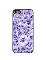 Personalized Gift Rose Design Aluminum Hard Case for iPhone 4/4S