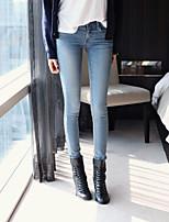 Women's Retro Was Thin Light Blue Skinny Jeans