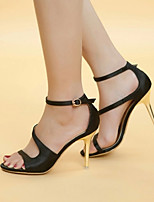 Women's Shoes Silk Stiletto Heel Heels Sandals Office & Career/Party & Evening/Dress Black/White/Orange