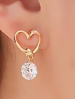 Серьги-слезки Базовый дизайн Сердце Мода Сплав В форме сердца Золотой Бижутерия Для Для вечеринок Повседневные 1 комплект