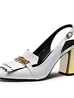 Women's Shoes Komanic Leather Chunky Heel Leather square toe Pumps Shoes  More Colors available