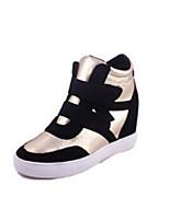 Scarpe Donna - Sneakers alla moda - Tempo libero - Punta arrotondata - Piatto - Di corda - Giallo