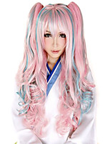 Anime Cosplay Wig Synthetic Multicolored Wig 100cm