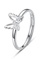 Cute/Work/Casual Sterling Silver Adjustable Ring