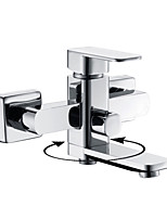 Shengbaier Contemporary Chrome Finish Single Handle Centerset Tub Faucet