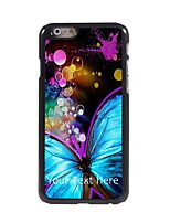 Personalized Gift Beautiful Butterfly Design Aluminum Hard Case for iPhone 6