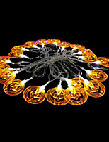 2W 4 Meter Outer Diameter 20pcs Bulb LED Modeling String Lighting Yellow Pumpkin Lights, Yellow Color