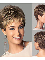 Chic style Synthetic wigs Short Straight hair Light Brown wigs with bangs Full Natural wigs for women