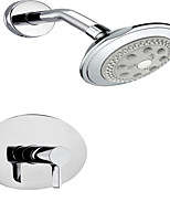 Recessed Concealed Round Shower Mixer Set Valve Tap Non Thermostatic MINIMA