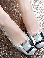 Women's Shoes Patent Leather Chunky Heel Heels/Square Toe/Closed Toe Pumps/Heels Dress/Casual Black/Red/Gray