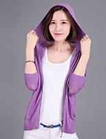 YINGYIYANG® Women's Korean Lightweight Openwork Zipper Long Sleeve Fit Cardigan Knitwear